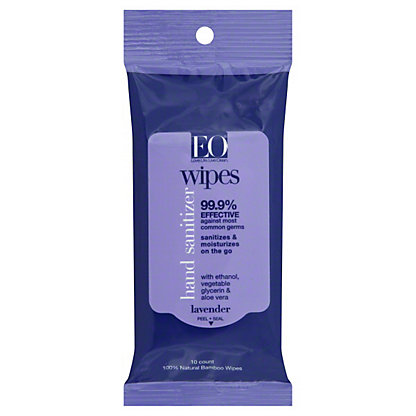 EO Hand Cleansing Wipes Lavender, 10.00 ea