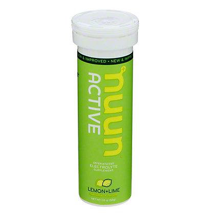 Nuun Active Hydration Lemon+Lime Drink Tabs, 10 ct