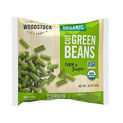 Woodstock Organic Cut Green Beans,10OZ