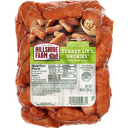 Hillshire Farm Turkey Lit'l Smokies Smoked Sausage,14 OZ
