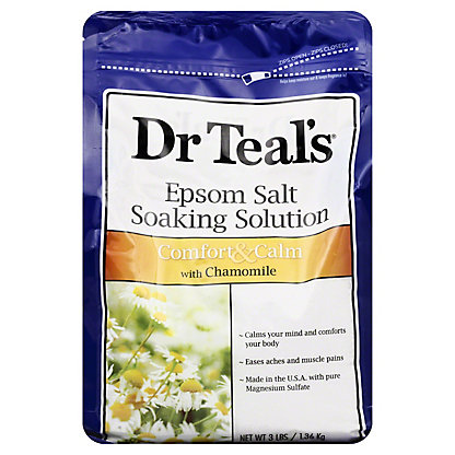 Dr Teal's Epsom Salt Soaking Solution Comfort & Calm with Chamomile, 3 lb