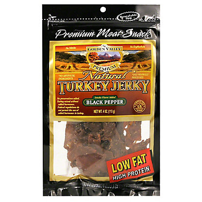 Golden Valley Golden Valley_Natural Black Pepper Turkey Jerky, 4.00 oz