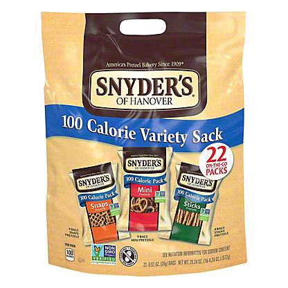 Snyder's of Hanover 100 Calorie Variety Sack Pretzels, 22 ct