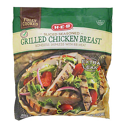 H-E-B Fully Cooked Sliced Grilled Chicken Breasts,12 OZ