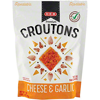 H-E-B Cheese and Garlic Restaurant Style Premium Croutons, 5 oz