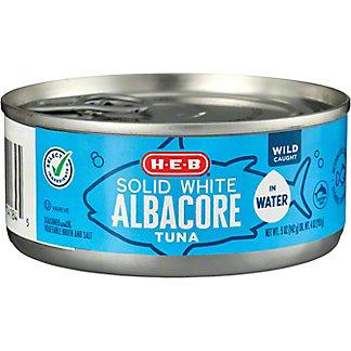 H-E-B Premium White Meat Albacore Tuna in Water,5.00 oz