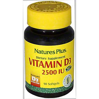 Nauture's Plus Vitamen D3 2500 IU, 90 CNT