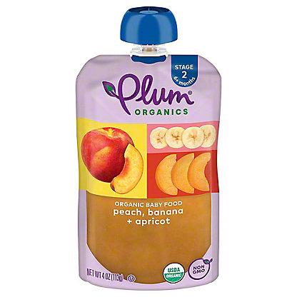 Plum Organics Baby Stage 2 Peach, Apricot and Banana  Baby Food, 4 oz