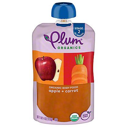 Plum Organics Stage 2 Apple and Carrot Baby Food,4 OZ