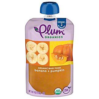 Plum Organics Stage 2 Pumpkin and Banana  Baby Food,4 OZ