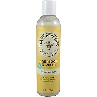 Burt's Bees Baby Bee Tear Free Fragrance Free Shampoo and Wash, 8 oz