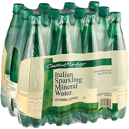 Central Market Italian Sparkling Mineral Water 12 Pack, 1 LT