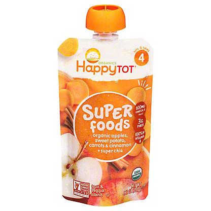 Happy Tot Superfoods Apples, Sweet Potato, Carrots & Cinnamon,4.22 oz