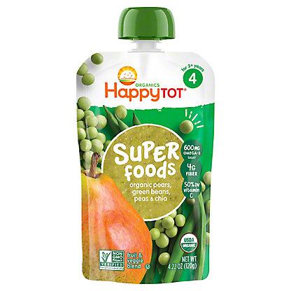 Happy Tot Superfoods Pears, Peas & Green Beans,4.22 oz