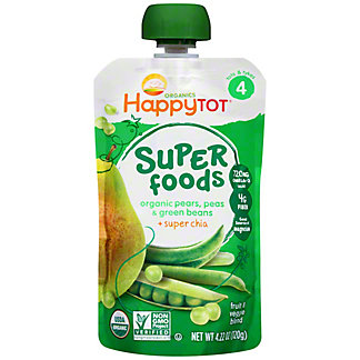 Happy Tot Superfoods Pears, Peas & Green Beans,4.22 oz