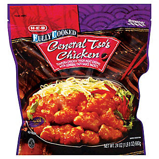 H-E-B Fully Cooked General Tso's Chicken, 24 oz