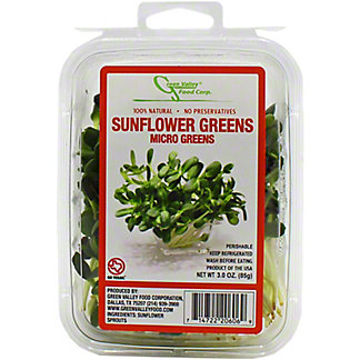 Green Valley Sunflower Sprouts,3 OZ