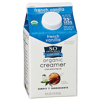 So Delicious French Vanilla Coconut Milk Creamer, 1 pt