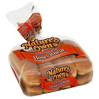 Nature's Own Honey Wheat Hot Dog Rolls,8 CT