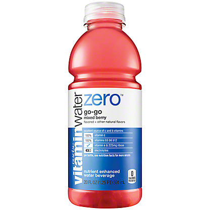 Glaceau Vitaminwater Zero Nutrient Enhanced Go-Go Naturally Sweetened Mixed Berry Water Beverage,20 OZ