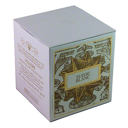 Voluspa Voluspa Box Candle Suede Blanc,12 OZ