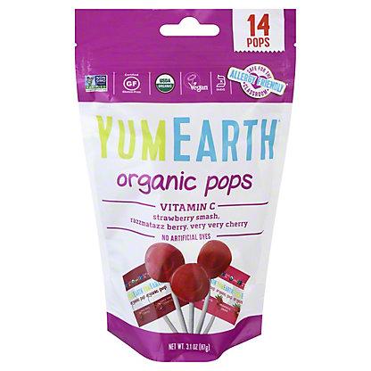 Yummy Earth Organic Vitamin C Lolli Pops,3 OZ