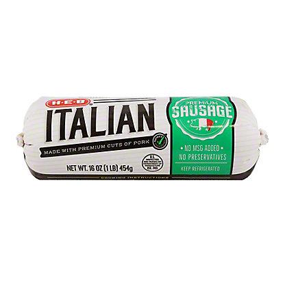 H-E-B Premium Italian Sausage,16 oz