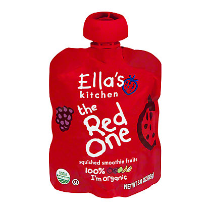 Ella's Kitchen the Red One Organic Smoothie Fruits,3 OZ