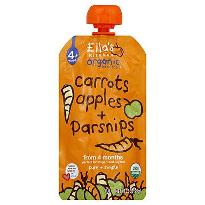 Ella's Kitchen Stage 1 Carrots Apples & Parsnips, 3.5 OZ