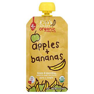 Ella's Kitchen Organic Stage 1 Apples & Bananas, 3.5 OZ