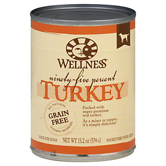 Wellness 95% Canned Turkey Dog Food,13.2 OZ