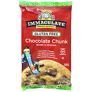 Immaculate Baking Gluten Free Chocolate Chunk Cookie Dough, 12 ct