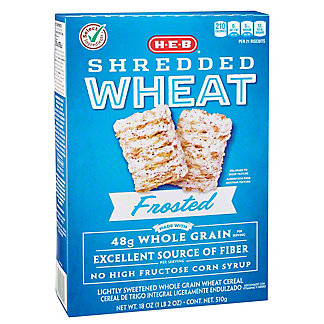H-E-B Select Ingredients Frosted Shredded Wheat Cereal, 18 oz