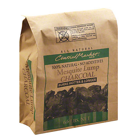 Central Market Mesquite Lump Charcoal, 6.6 LBS