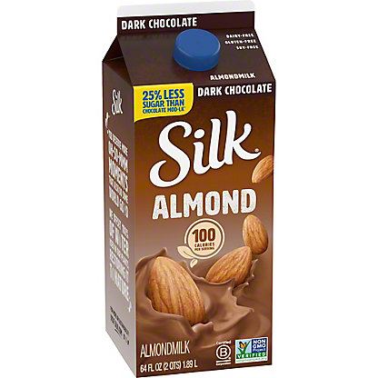Silk Dark Chocolate Almondmilk, 1/2 gal