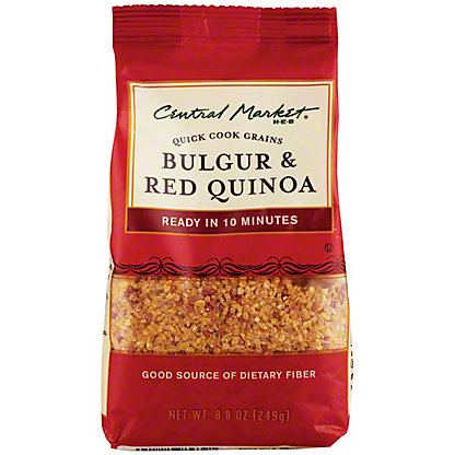 Central Market Bulgar And Red Quinoa Quick Cook Grains, 8.8 oz
