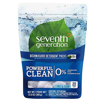 Seventh Generation Free & Clear Automatic Dishwasher Detergent Packs,20 CT