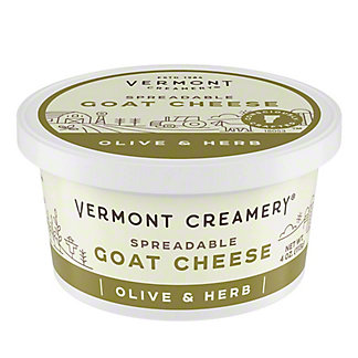 Vermont Butter & Cheese Spreadable Goat Cheese - Olive & Herb,4 OZ