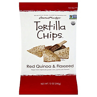 Central Market Organics Red Quinoa & Flaxseed Tortilla Chips With Sea Salt, 12 oz