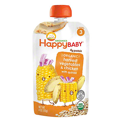 Happy Baby Organics Stage 3 Hearty Meals Chick Chick Organic Baby Food, 4 oz