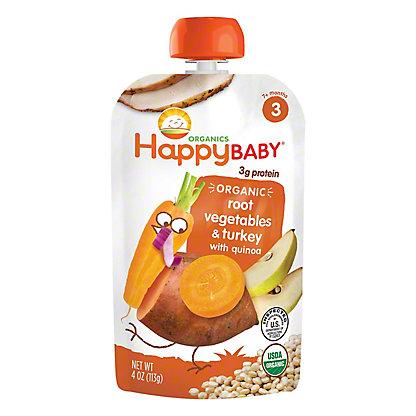 Happy Baby Organics Stage 3 Gobble Gobble Organic Baby Food, 4 oz