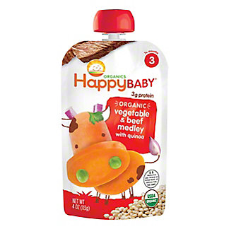 Happy Baby Organics Stage 3 Beef Stew Baby Food, 4 oz