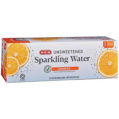 H-E-B Sparkling Orange Water Beverage 12 PK, 12 oz