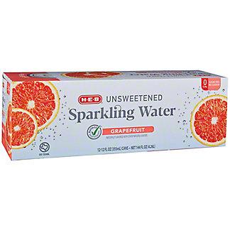 H-E-B Sparkling Grapefruit Water Beverage 12 PK, 12 oz