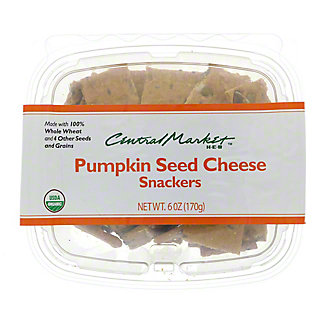 Central Market Organics Pumpkin Seed Cheese Snackers,6 OZ
