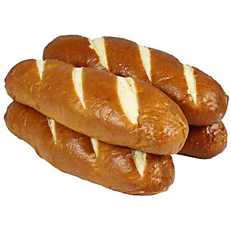 Central Market Pretzel Hoagie Buns 4 Count,17.6OZ