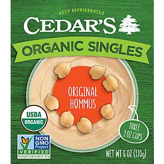 Cedar's Organic Hommus Original, 3-2 OZ
