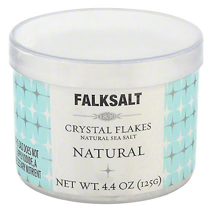 Falksalt Natural Sea Salt Crystal Flakes,4.4OZ