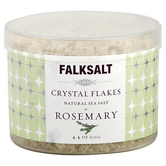 Falksalt Crystal Flakes Rosemary Natural Sea Salt, 4.40 oz