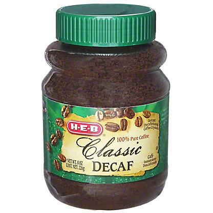 H-E-B H-E-B Classic Decaf Instant Coffee,8 oz